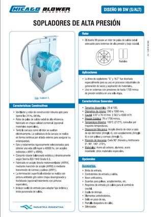 Catálogo de Sopladores de Alta Presión y Bajo Caudal - D99 SW